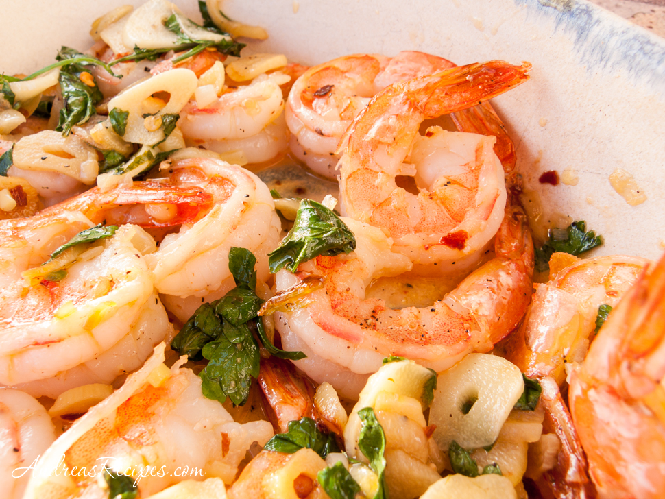 Shrimp in Garlic Tapa - Andrea Meyers