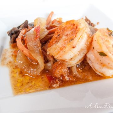 Shrimp with Mushroom Tapas - Andrea Meyers