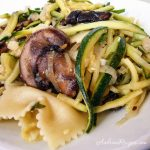 Zucchini and Mushroom Pasta with Lemon Basil - Andrea Meyers
