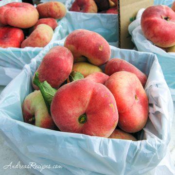 Donut peaches at Central New York Regional Market - Andrea Meyers