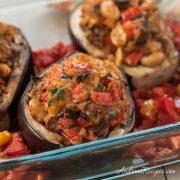Grilled Stuffed Eggplant - Andrea Meyers