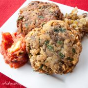 Italian Grilled Eggplant Cakes - Andrea Meyers