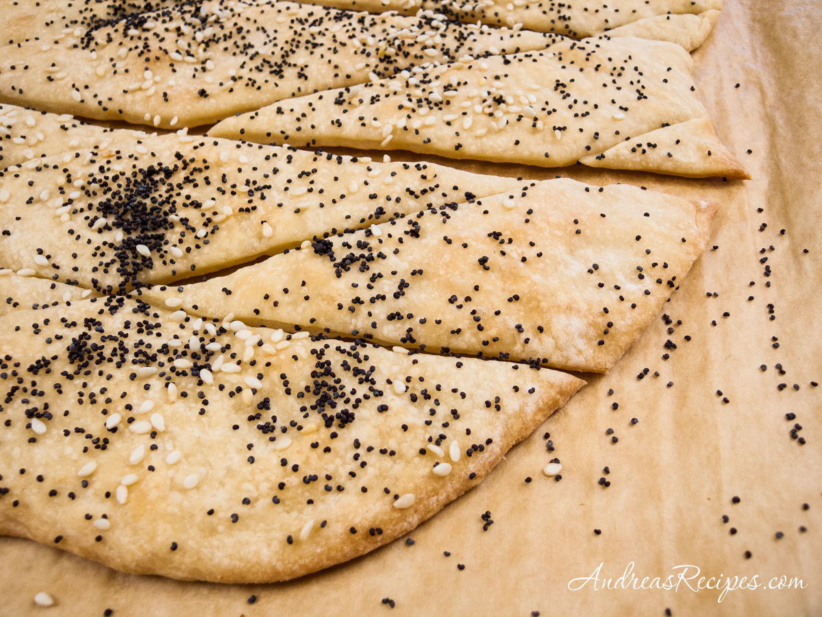 Lavash dough with poppy and sesame seeds - Andrea Meyers