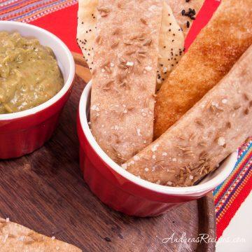 Lavash Cracker Bread - Andrea Meyers