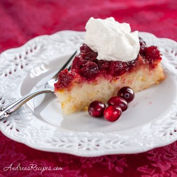 Cranberry Orange Upside Down Cake - Andrea Meyers