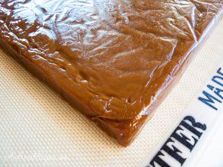 Block of golden vanilla bean caramels - Andrea Meyers