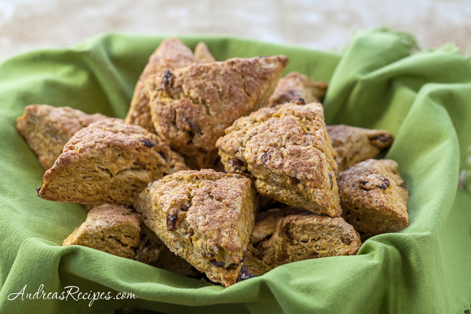 Pumpkin Scones - Andrea Meyers