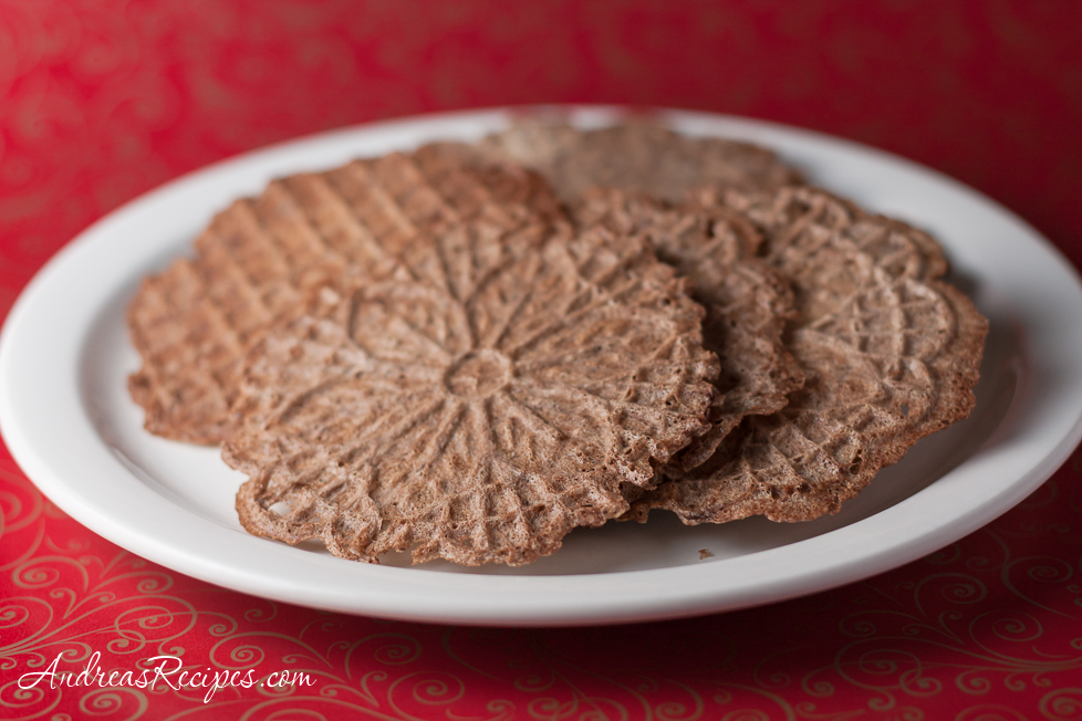 Chocolate Pizzelles - Andrea Meyers