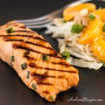 Miso Marinated Grilled Salmon - Andrea Meyers