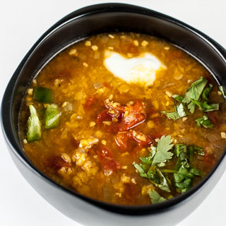 Spicy Red Lentil and Tomato Soup