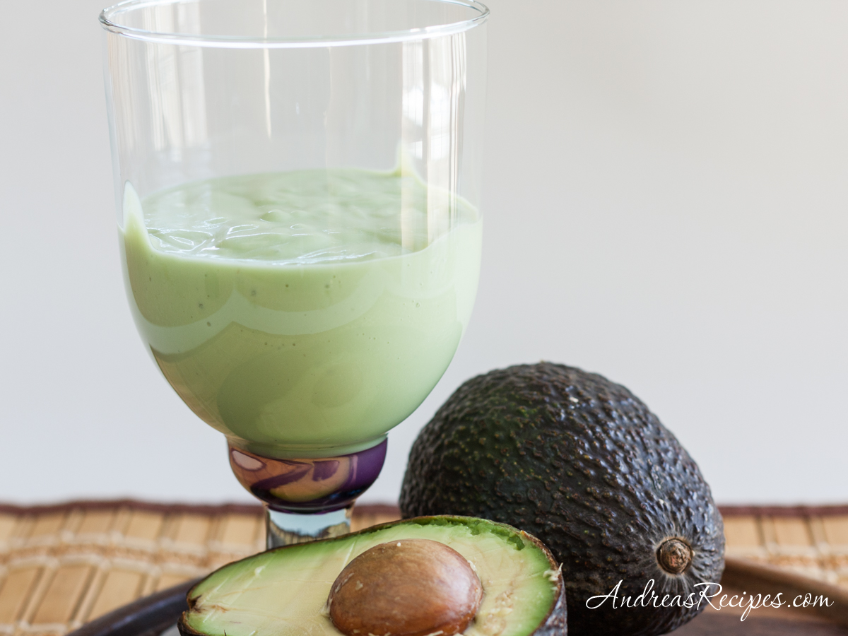 Avocado Smoothie with Soy Milk - Andrea Meyers