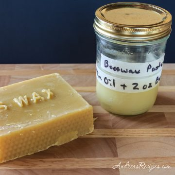 Beeswax Paste for Cutting Boards and Butcher Blocks - Andrea Meyers