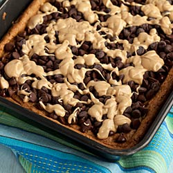 Whole Wheat Oatmeal Peanut Butter Bars with Chocolate Chips Recipe - Andrea Meyers