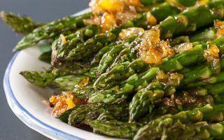 Roasted Asparagus with Orange Ginger Glaze