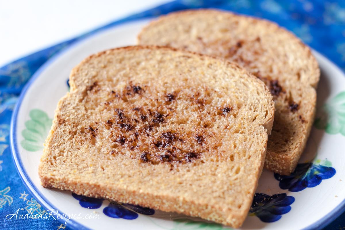 Anadama bread slices - Andrea Meyers