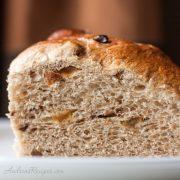 Christopsomos, Greek Christmas Bread slice - Andrea Meyers