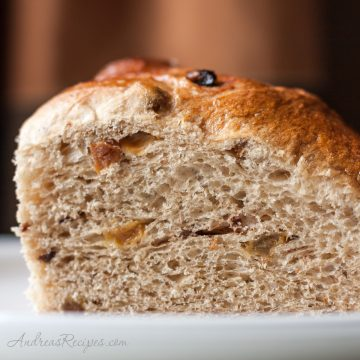 Christopsomos, Greek Christmas Bread slice - Andrea Meyers