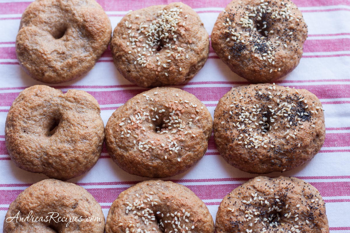 Whole Wheat and Rye Bagels - Andrea Meyers