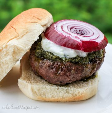 Greek Burgers and Tzatziki - Andrea Meyers