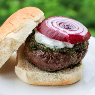 Greek Burgers and Tzatziki - Andrea Meyers