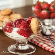 Strawberries and Cream with Macaroons - Andrea Meyers