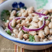 Cannellini Bean Salad with White Balsamic Vinaigrette - Andrea Meyers