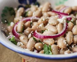 Cannellini Bean Salad with White Balsamic Vinaigrette