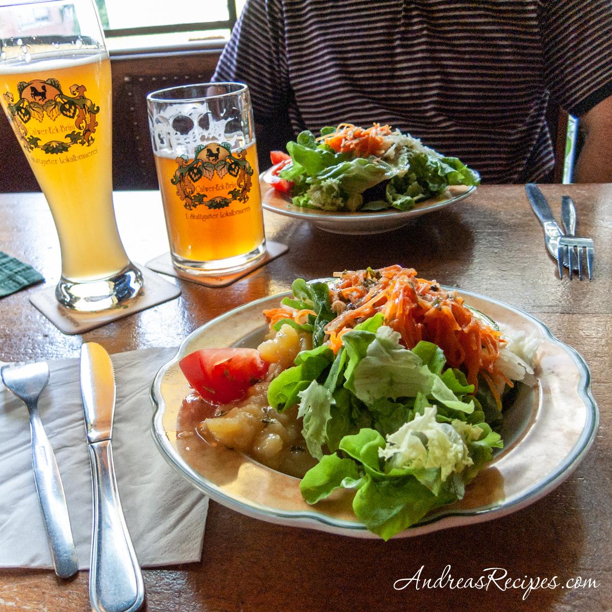 Salads and beer, Calwer Eck, Stuttgart - Andrea Meyers