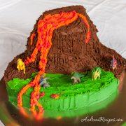 Volcano Birthday Cake - Andrea Meyers