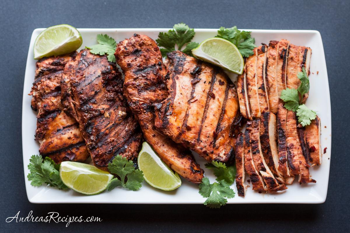 Grilled Adobo Chicken Recipe Pollo Adobado Andrea Meyers