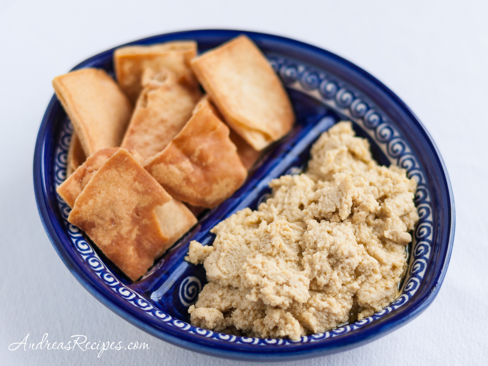 Roasted Garlic Hummus - Andrea Meyers