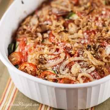 Zucchini and Tomato Gratin - Andrea Meyers