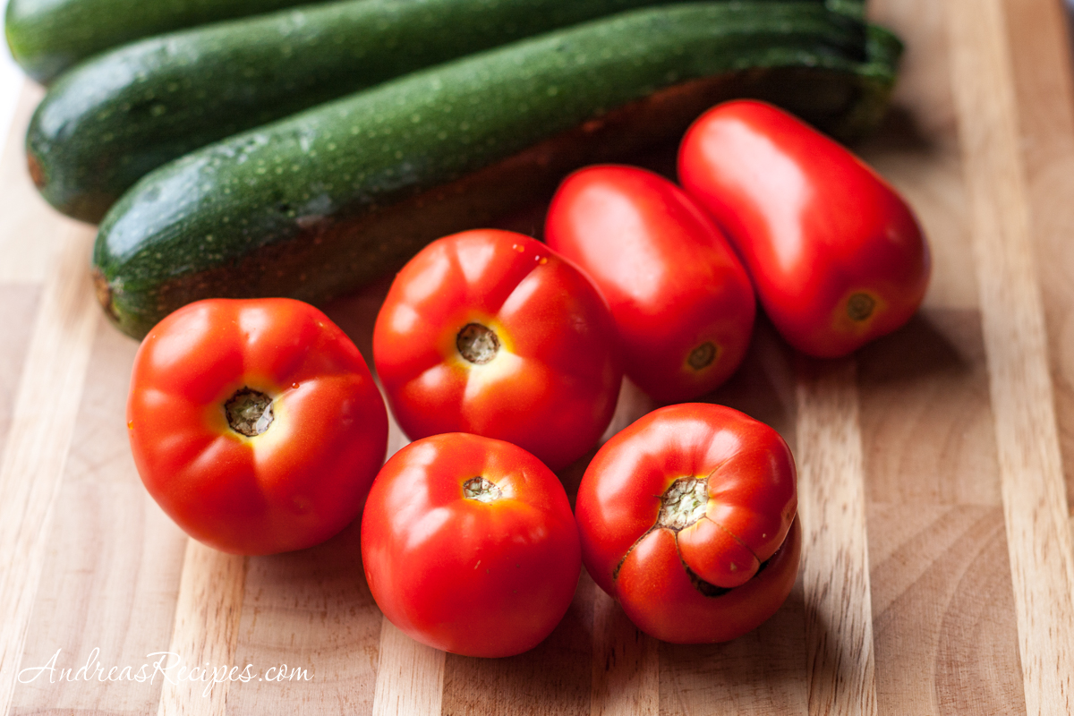 Zucchini and tomatoes - Andrea Meyers