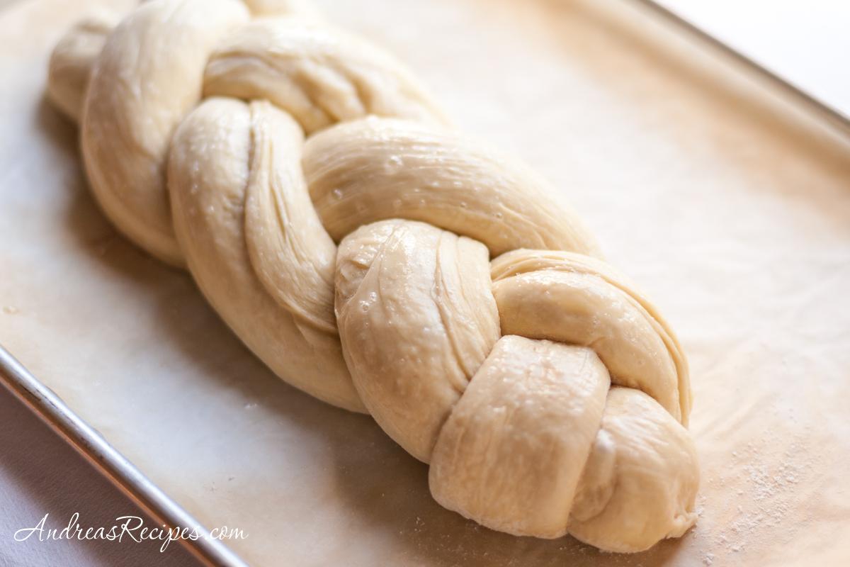Braided challah dough - Andrea Meyers