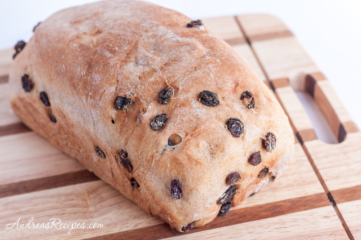 BBA Challenge: Cinnamon Raisin Bread with Whole Wheat. loaf - Andrea Meyers