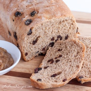 BBA Challenge: Cinnamon Raisin Bread with Whole Wheat. sliced - Andrea Meyers