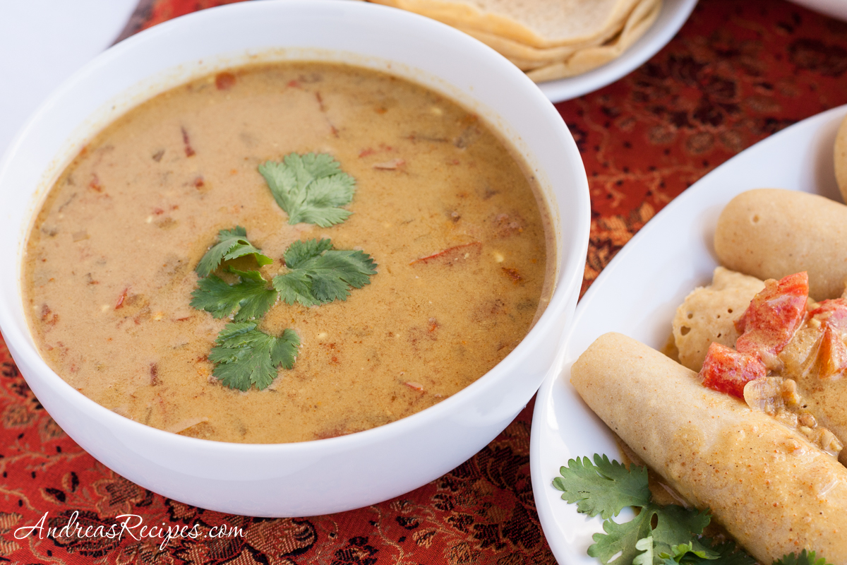 Coconut Curry Sauce for Dosas - Andrea Meyers