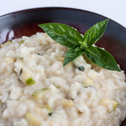 Zucchini Risotto with Basil