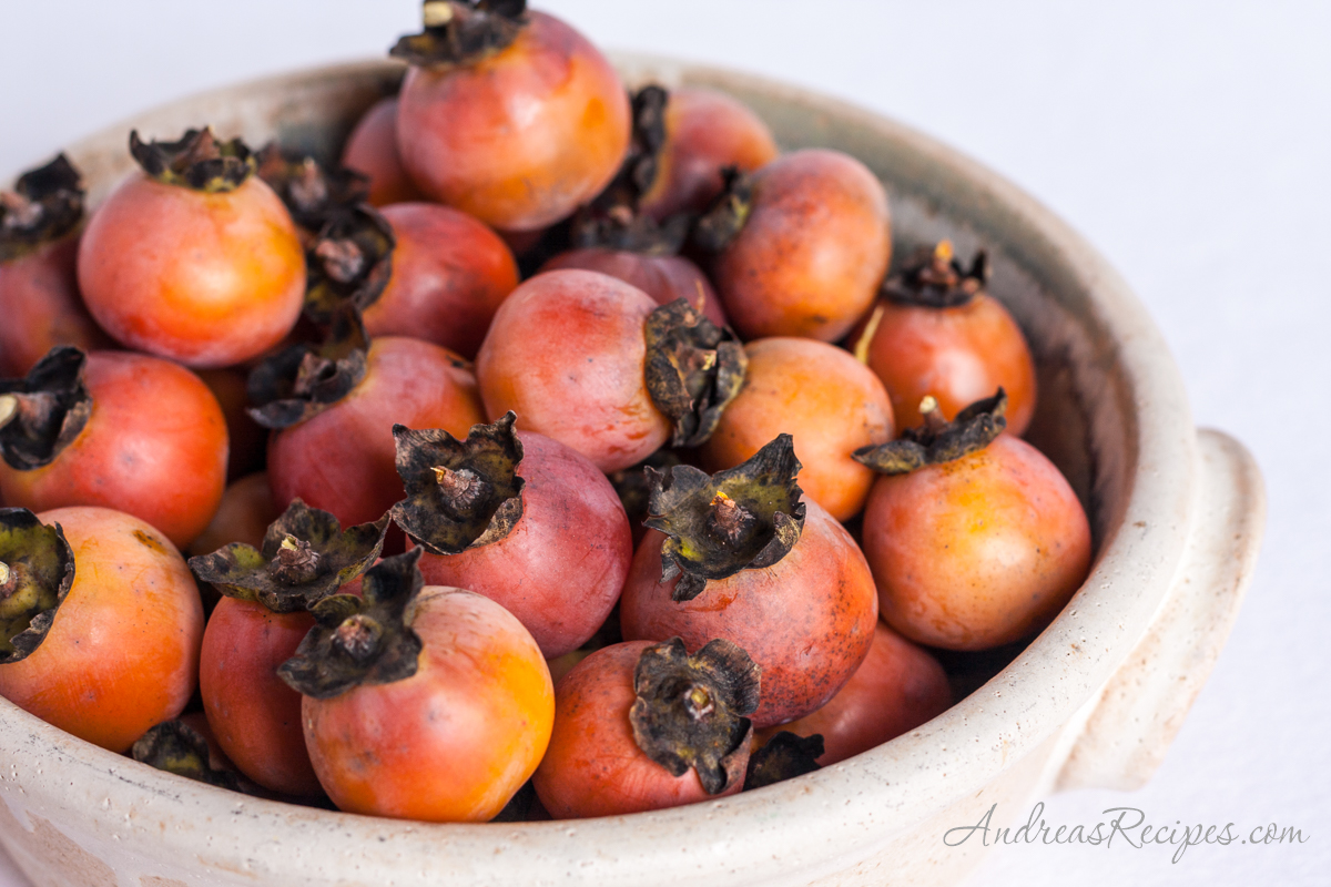 Persimmons in a bowl - Andrea Meyers