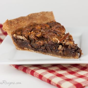Bourbon Chocolate Pecan Pie with Whole Wheat Crust - Andrea Meyers