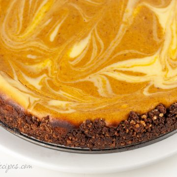 Bourbon Pumpkin Marble Cheesecake - Andrea Meyers