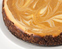 Bourbon Pumpkin Marble Cheesecake