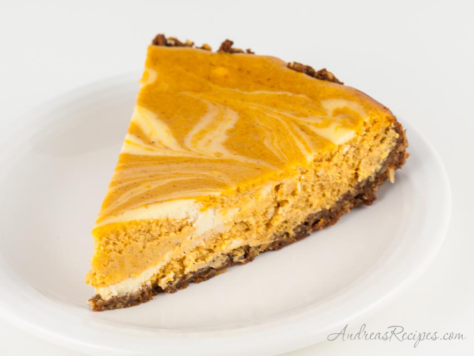 Bourbon Pumpkin Marble Cheesecake - Andrea Meyers