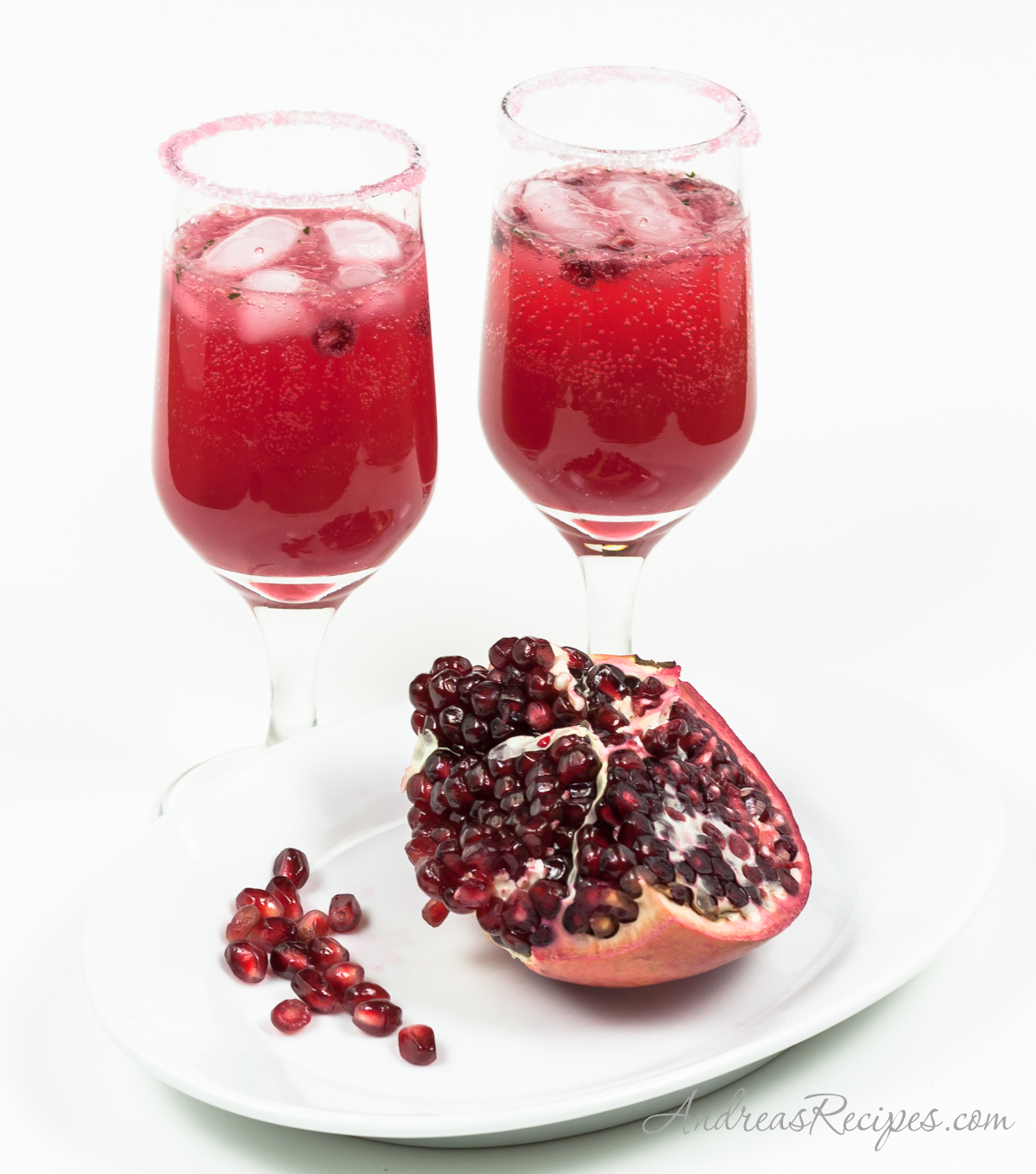 Pomegranate-Ginger-Chile Nojito Cocktail - Andrea Meyers