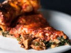 Stuffed Pizza with Spinach and Chanterelles - Andrea Meyers