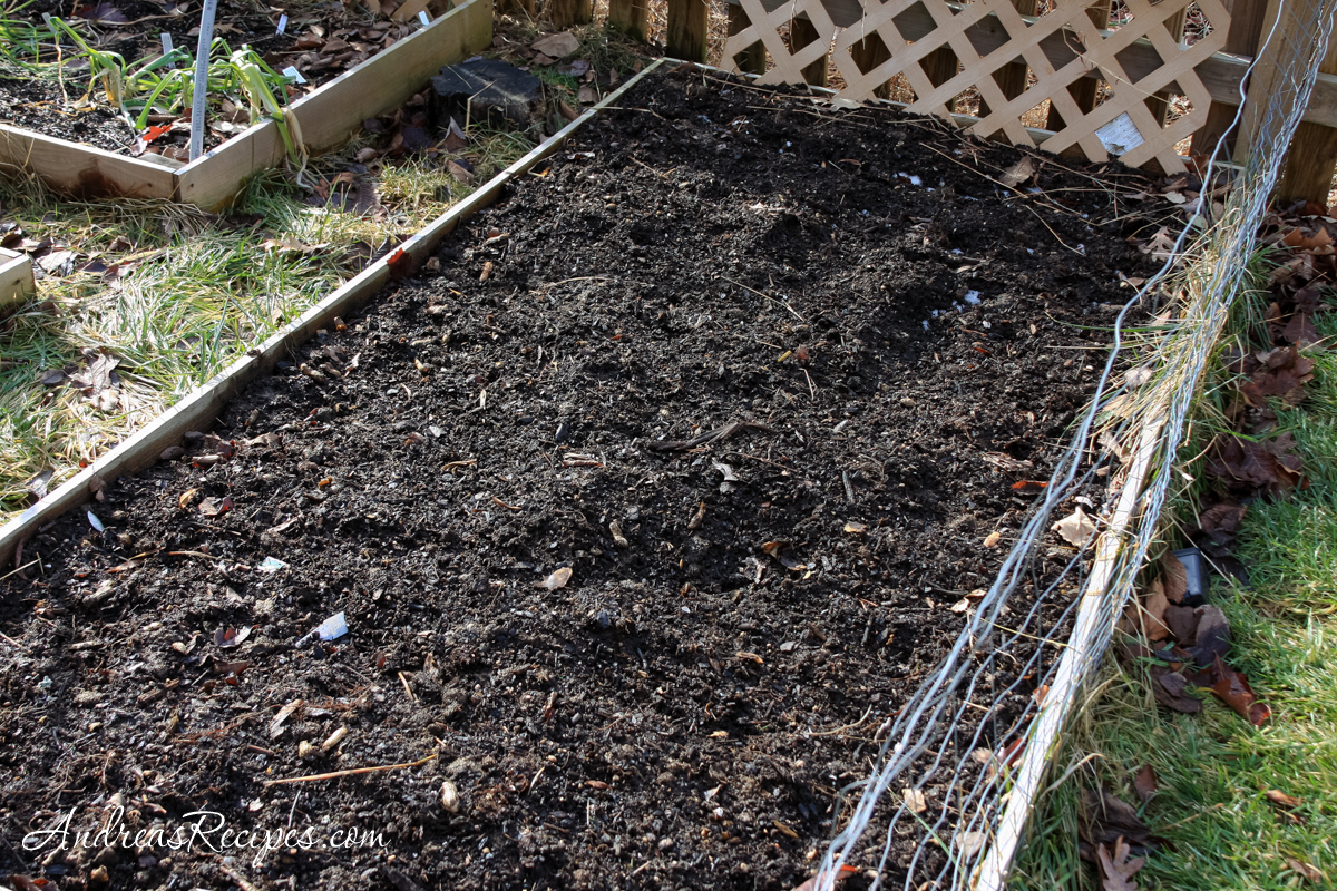 Compost in the raised bed - Andrea Meyers