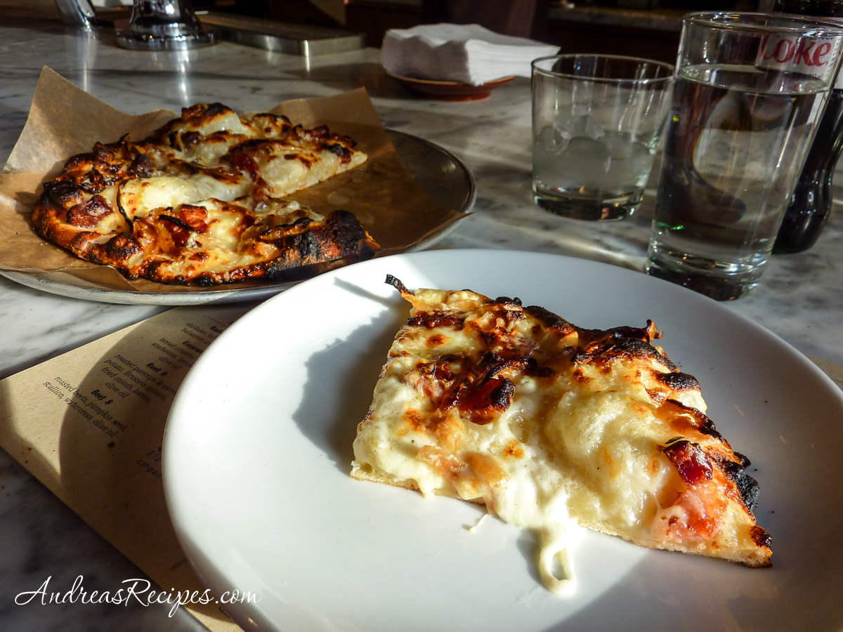 Flambe pizza at Co., New York City - Andrea Meyers