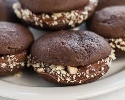Mini Chocolate Whoopie Pies with Nutella
