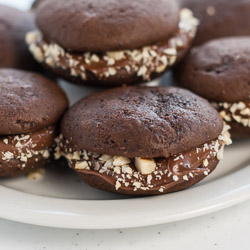 Mini Chocolate Whoopie Pies Recipe with Nutella - Andrea Meyers
