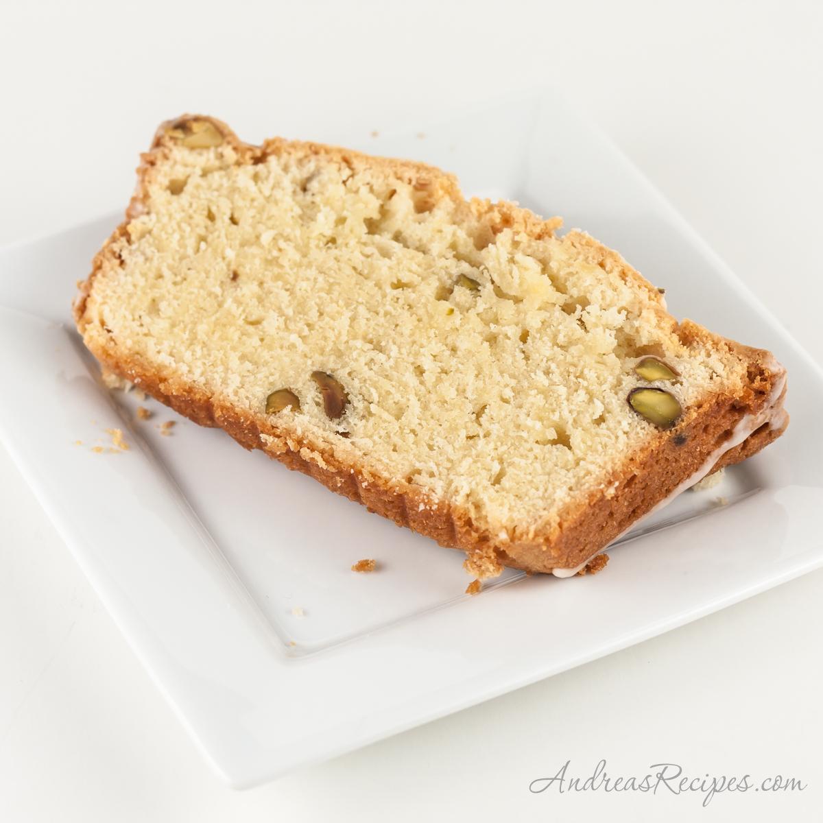 Irish Cream Pound Cake slice - Andrea Meyers